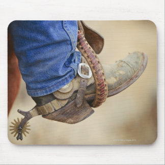 Cowboy boot with spur 2 mouse mat
