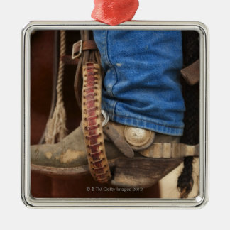 Cowboy boot with spur christmas ornament