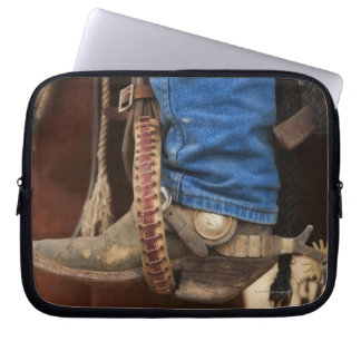 Cowboy boot with spur laptop sleeve