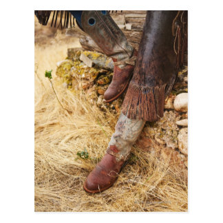 Cowboy boots 2 postcard