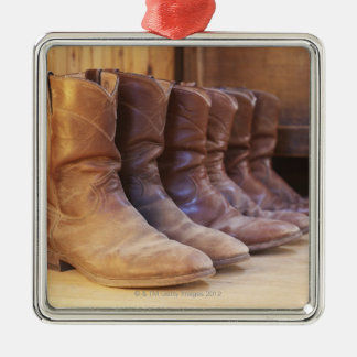 Cowboy boots 3 christmas ornament