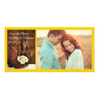 Cowboy Boots and Horse Bit Western Save the Date Customised Photo Card