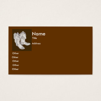Cowboy Boots Business Card