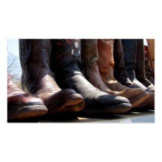 Cowboy Boots Business Card Vintage