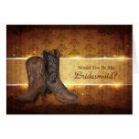 Cowboy Boots Country wedding bridesmaid