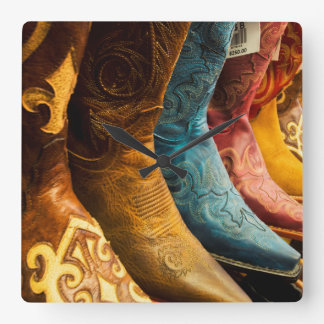 Cowboy boots for sale, Arizona Square Wall Clock