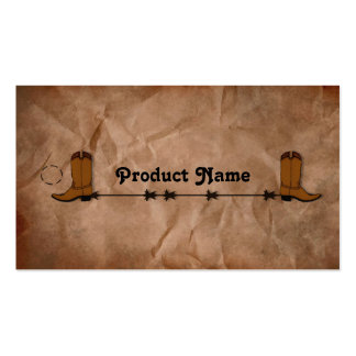 Cowboy Boots Hang Tag Business Card Templates