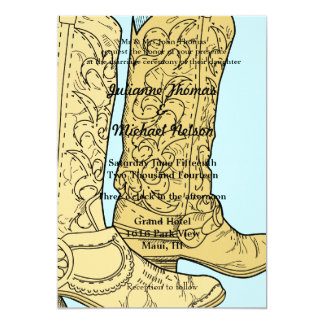 "Cowboy Boots 5"" X 7"" Invitation Card"