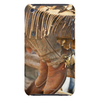 Cowboy boots on fence 2 Case-Mate iPod touch case