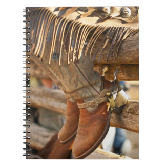 Cowboy boots on fence 2 notebook