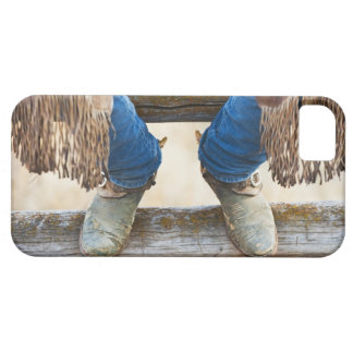 Cowboy boots on fence iPhone 5 covers
