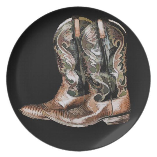 Cowboy Boots Plate