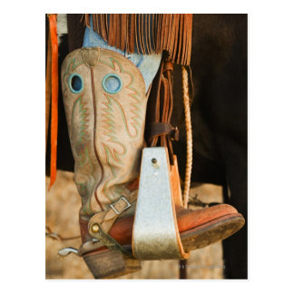 Cowboy boots postcards