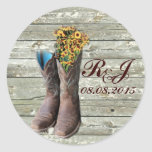 cowboy boots western country wedding thank you