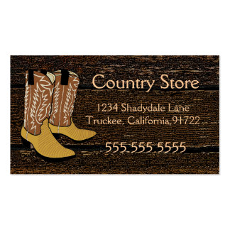 Cowboy Boots-Western Theme Double-Sided Standard Business Cards (Pack Of 100)