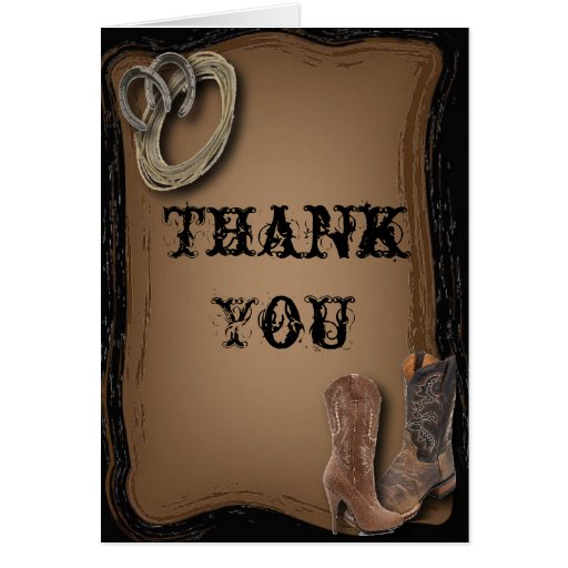 Wedding Thank You Cards Boots