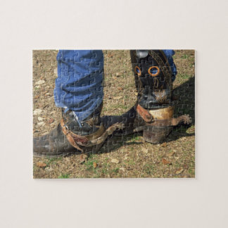 Cowboy boots with spurs jigsaw puzzle
