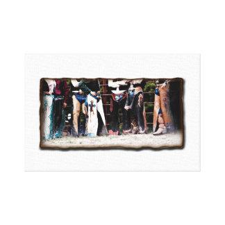 Cowboy Bullrider Canvas Wrap Wall Art-Western Gallery Wrap Canvas