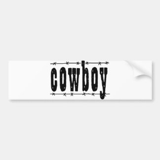 Cowboy Bumper Sticker