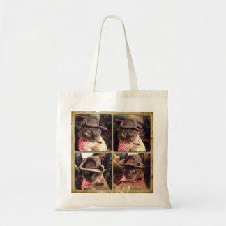 Cowboy Cat, 4 Views Canvas Bag