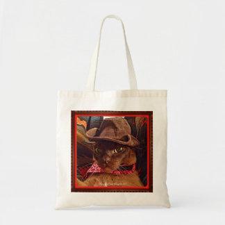 Cowboy Cat, pose 4, color Budget Tote Bag