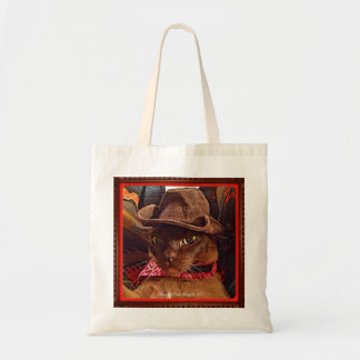 Cowboy Cat, pose 4, color Tote Bag