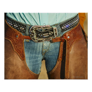 Cowboy chaps print