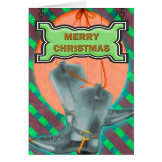Cowboy Christmas Greeting Card
