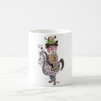 Cowboy Clown Classic White Coffee Mug