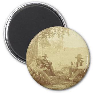 Cowboy coffee magnet
