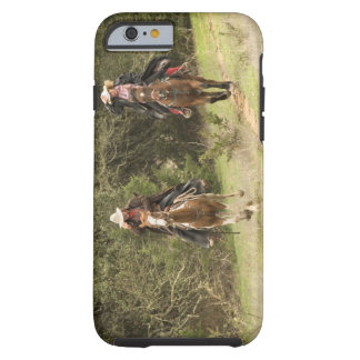 Cowboy couple riding horses tough iPhone 6 case