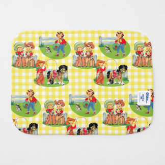 Cowboy Cowgirl Kids Western Baby Gift Burp Cloth
