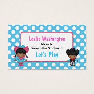 Cowboy & Cowgirl Play Date Card
