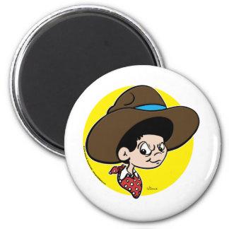 Cowboy Dave 6 Cm Round Magnet