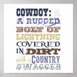 Cowboy Definition Poster