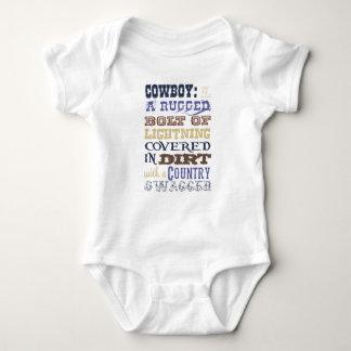 Cowboy Description Outfit Baby Bodysuit