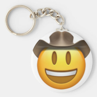 Cowboy emoji face key ring