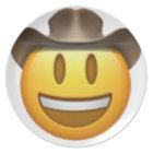 Cowboy emoji face plate