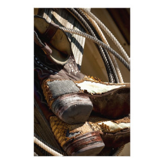 Cowboy Essentials - Boots and Ropes Stationery Paper