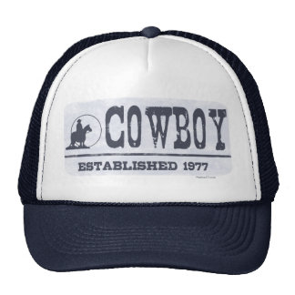 Cowboy Established 1977 Hats