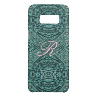 Cowboy fashion Western Country Teal Leather Case-Mate Samsung Galaxy S8 Case