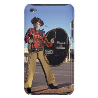 Cowboy figure sign welcoming tourists to Scottsdal Case-Mate iPod Touch Case