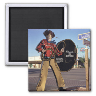 Cowboy figure sign welcoming tourists to Scottsdal Magnet