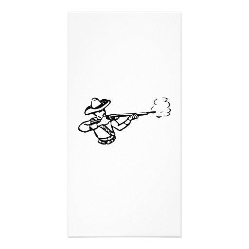 Cowboy Firing Rifle Photo Cards