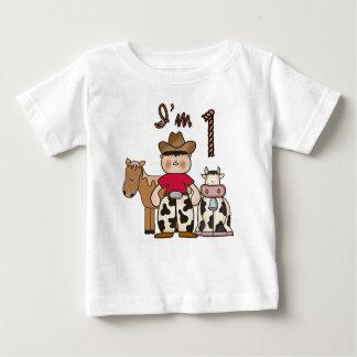 Cowboy  First Birthday Baby T-Shirt