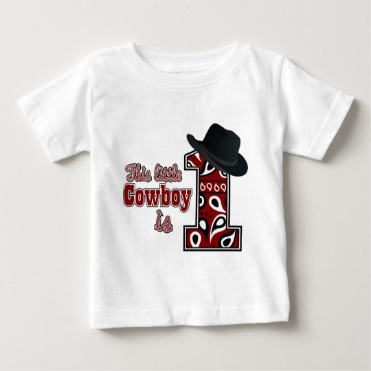 Cowboy First Birthday Baby T-Shirt