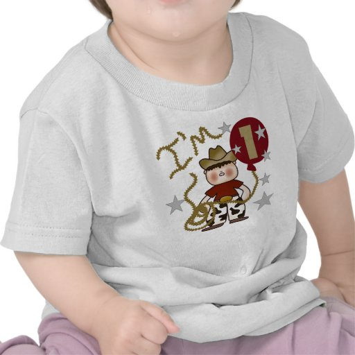 Cowboy First Birthday Tee Shirt
