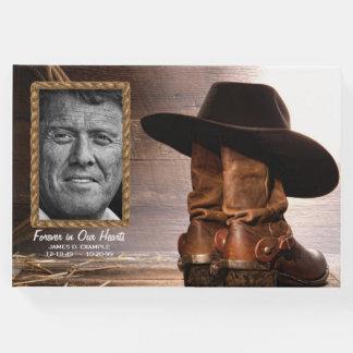 Cowboy Funeral Memorial Guest Book