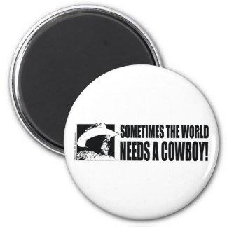 Cowboy George W Bush 6 Cm Round Magnet