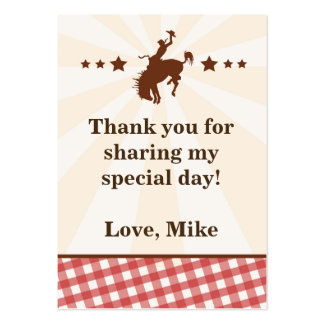 Cowboy Gift Favor Label Tag Red Rodeo Pack Of Chubby Business Cards